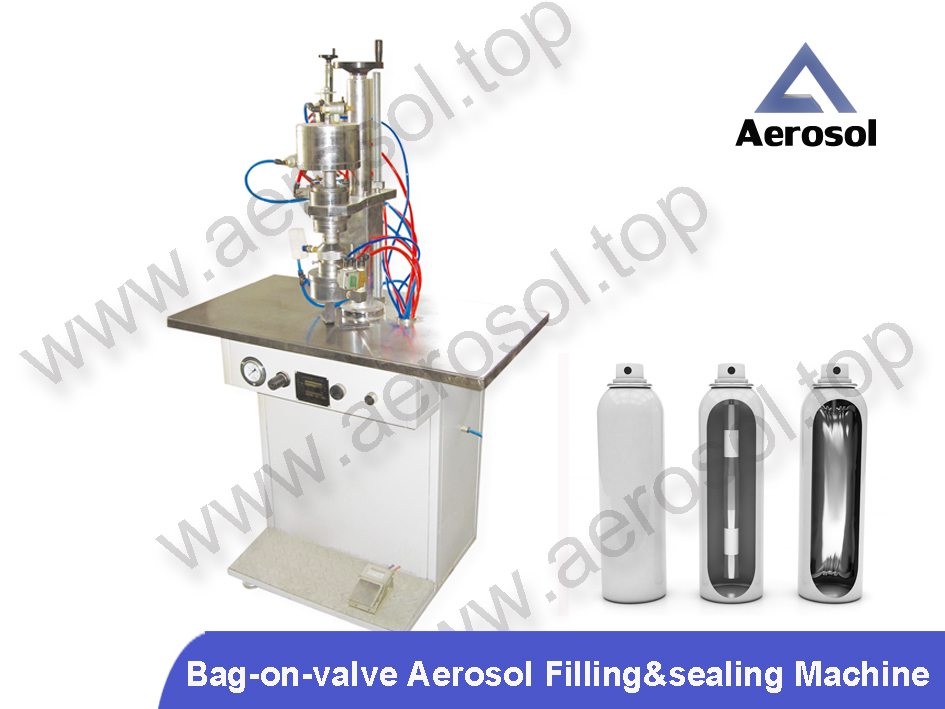 ASF Semi-automatic Bag-on-valve Aerosol Filling&sealing Machine