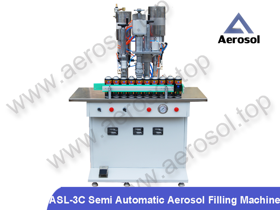 ASL-3C Semi Automatic Aerosol Filling Machine