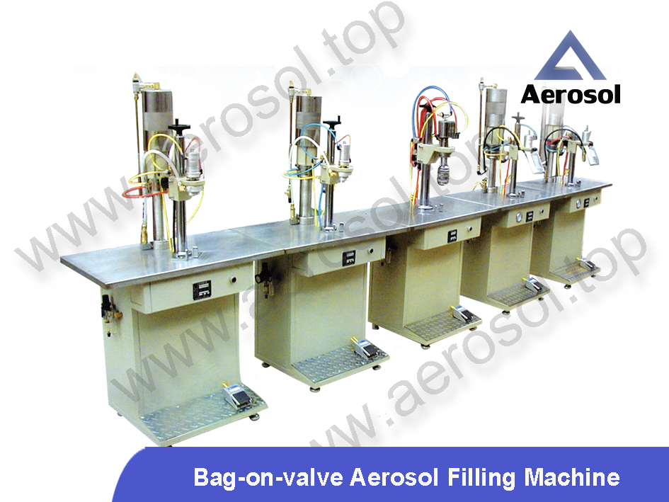 Semi-automatic PU-Foam Aerosol Filling Machine