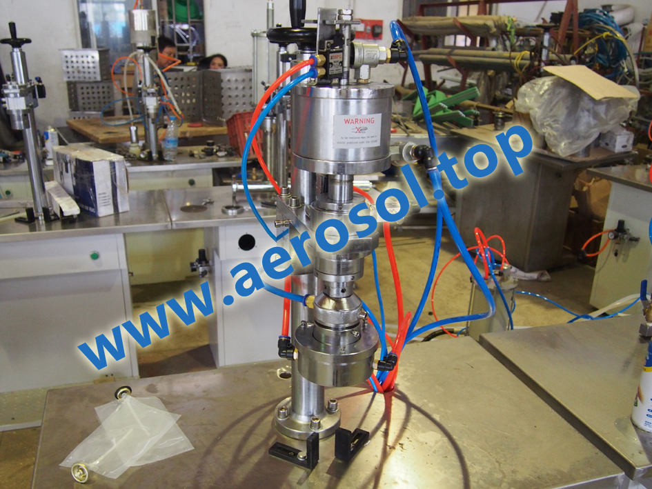 AS-2A Semi-automatic Bag-on-valve Aerosol Filling Machine