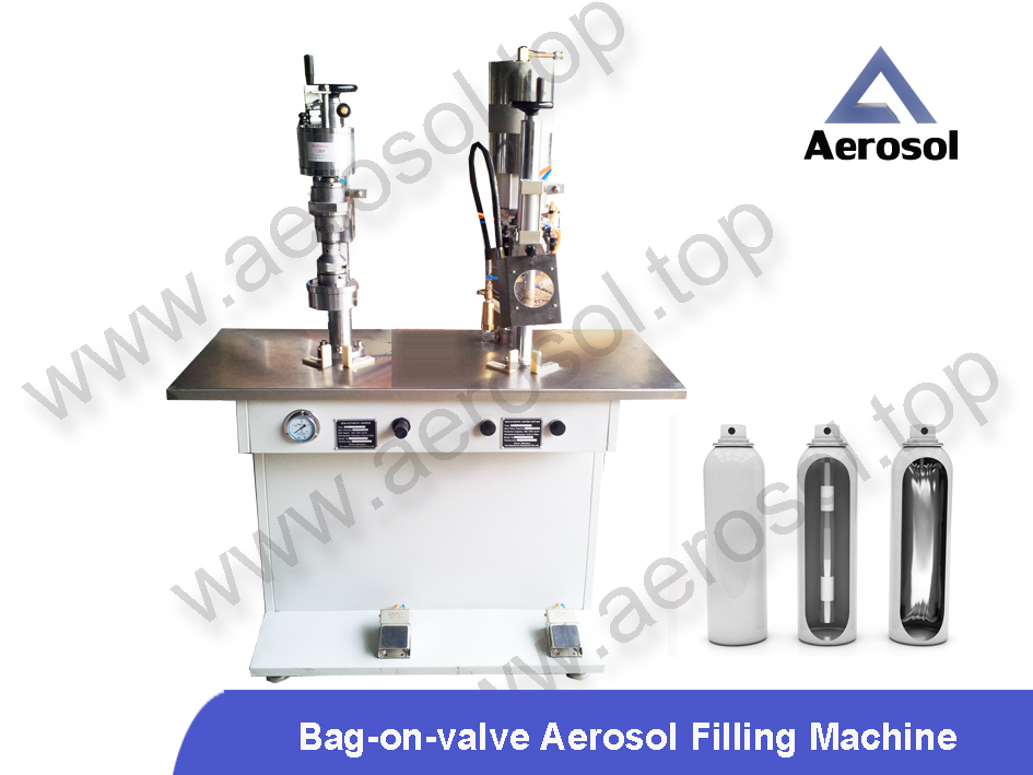 AS-2B Semi-automatic Bag-on-valve Aerosol Filling Machine
